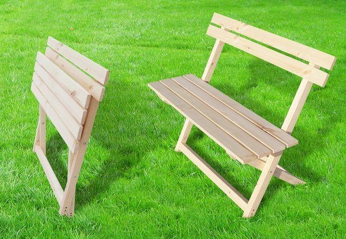 Раскладная садовая скамейка своими руками